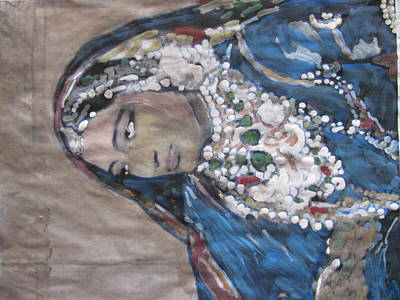 Poster featuring the painting Rani by Vikram Singh