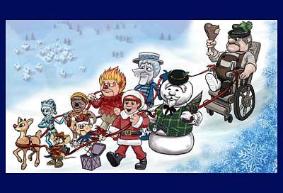 Poster featuring the digital art Rankin Bass Christmas by Jennifer Hotai