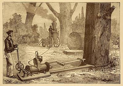 Ransome's Tree Felling Machine Poster