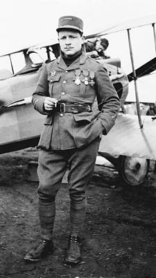 Raoul Lufbery, French World War I Pilot Poster by Science Photo Library