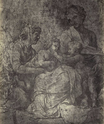 Raphael Drawing From Windsor Castle, Mary With Jesus Poster