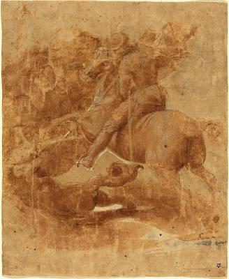 Raphael Italian, 1483 - 1520, Saint George And The Dragon Poster