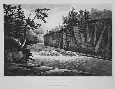 Rapids Above Hadleys Falls No. 4 Poster