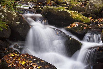 Rapids At Autumn Poster by Andrew Soundarajan