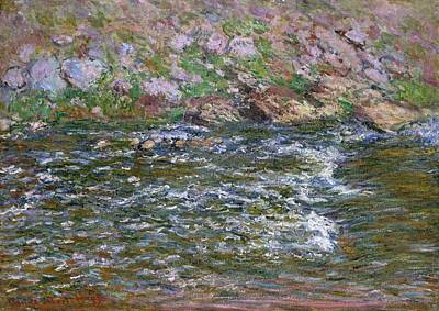 Rapids On The Petite Creuse At Fresselines Poster by Claude Monet