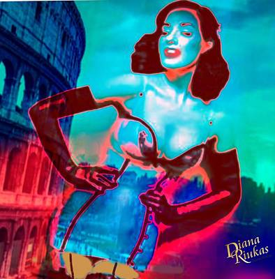 Rapturous In Rome Poster by Diana Riukas