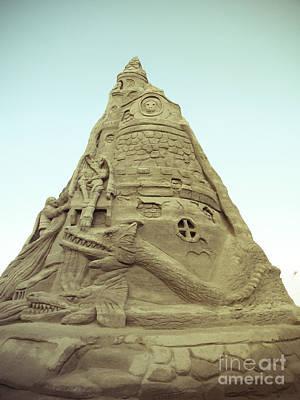 Rapunzel's Sandcastle Poster by Colleen Kammerer