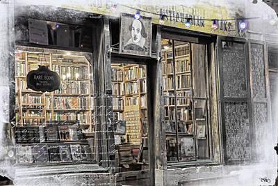 Rare Books Latin Quarter Paris France Poster