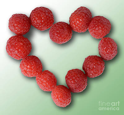 Raspberries, Heart-healthy Fruit Poster by Gwen Shockey