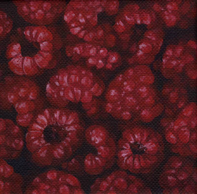 Poster featuring the painting Raspberries by Natasha Denger