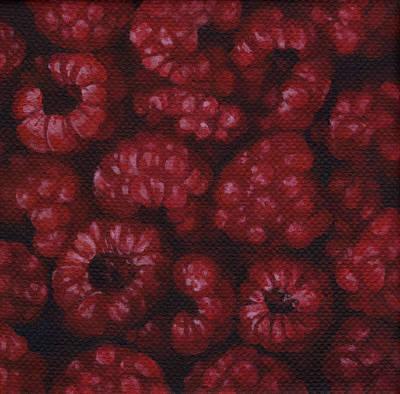 Raspberries Poster by Natasha Denger