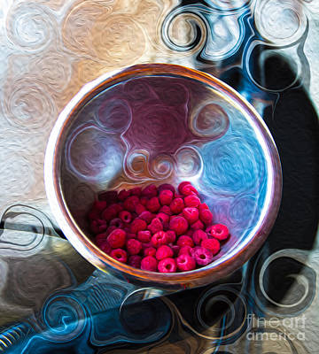Raspberry Reflections Poster by Omaste Witkowski