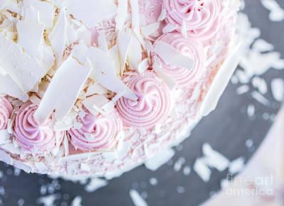 Raspberry White Chocolate Cake Poster