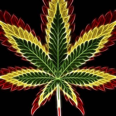 rasta marijuana poster