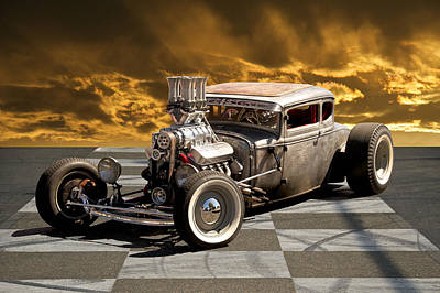 Rat Rod Coupe IIi Poster by Dave Koontz