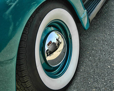 Poster featuring the photograph Rat Rod Reflection by Victor Montgomery