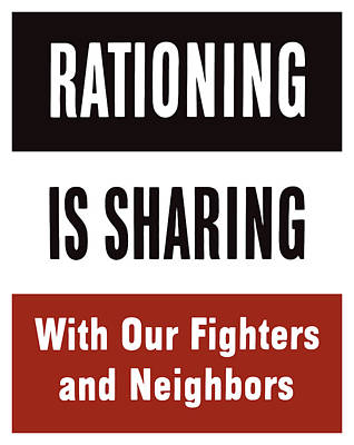 Rationing Is Sharing - Ww2 Poster