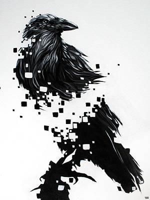 Raven Poster by Jeremy Scott