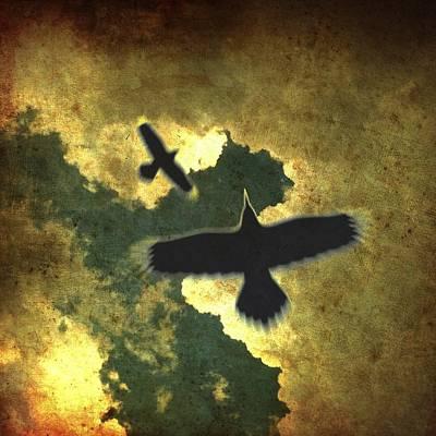 Raven Spiral Poster