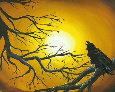 Raven Sun. Poster by Kija  Elstad