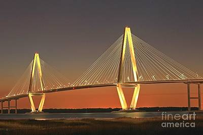 Ravenel Bridge At Dusk Poster