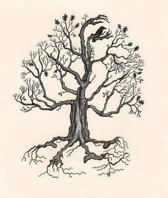 Raven's Magic Oak Poster by Margaryta Yermolayeva