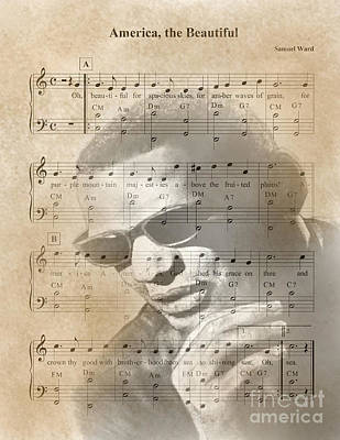 Ray Charles America The Beautiful Poster