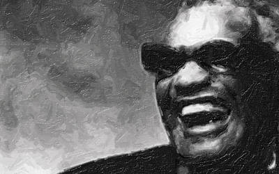 Ray Charles And That Smile Poster by Tilly Williams