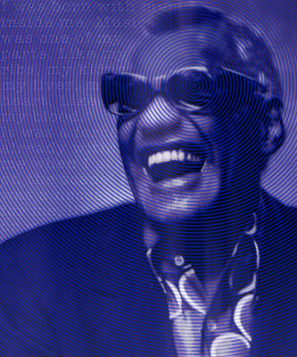 Ray Charles Robinson And Quote Poster by Tony Rubino