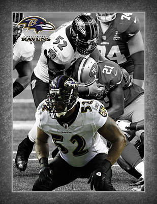 Ray Lewis Ravens Poster by Joe Hamilton