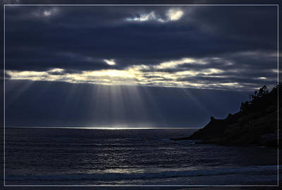 Rays Of Hope At Cape Kiwanda Oregon Poster