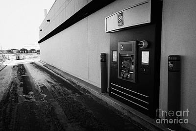 rbc drive through atm outside bank in winter Saskatoon Saskatchewan Canada Poster by Joe Fox