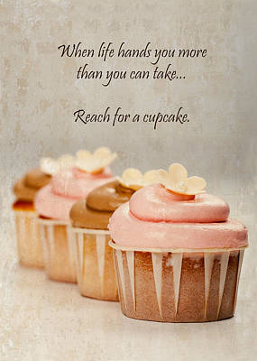 Reach For A Cupcake Poster