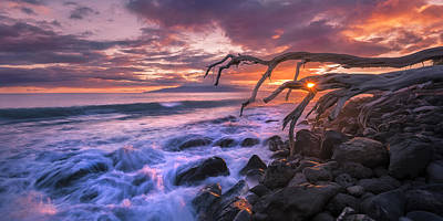 Poster featuring the photograph Reaching For The Pacific by Hawaii  Fine Art Photography