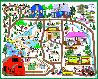 Read Along Ranch Map Poster