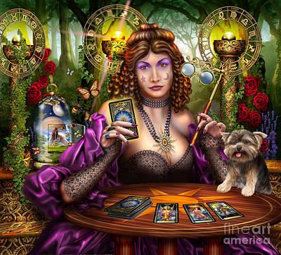 Reading The Gilded Tarot Poster by Ciro Marchetti