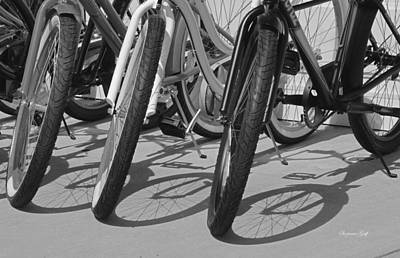 Ready For A Spin In Black And White Poster by Suzanne Gaff