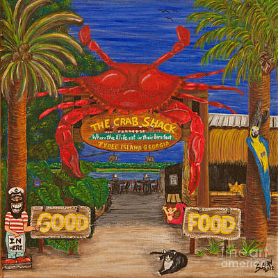 Ready For The Day At The Crab Shack Poster