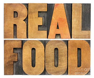 Real Food Poster by Marek Uliasz