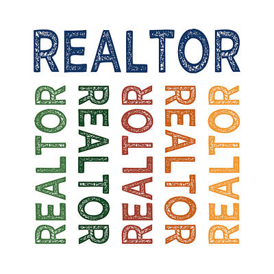 Realtor Cute Colorful Poster by Flo Karp