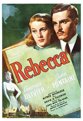 Rebecca - 1940 Poster by Georgia Fowler