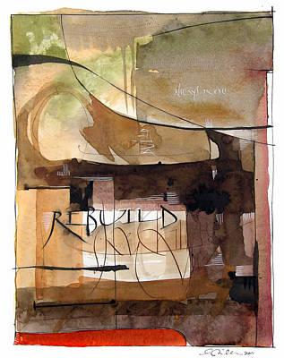 Rebuild Poster by Ann Miller