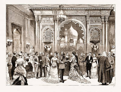 Reception Of The Prince Of Wales In The City Poster by Litz Collection