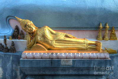 reclining Buddha Poster by Michelle Meenawong