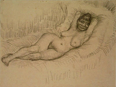 Reclining Female Nude Poster