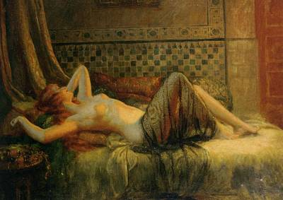 Poster featuring the painting Reclining Nude   by Delphin Enjolras