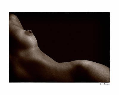 Poster featuring the photograph Reclining Nude by Travis Burgess