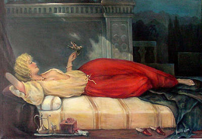 Reclining Woman Poster by Donna Tucker