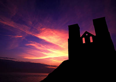 Reculver Church At Sunrise Poster