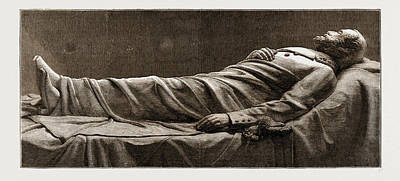 Recumbent Statue Of The Late General Lee Poster by Litz Collection